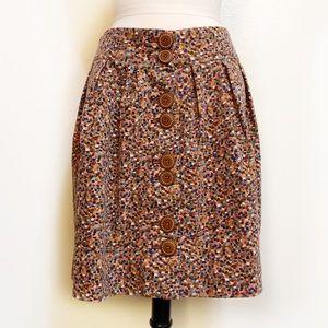 [ANTHRO] Elevenses Velvet Confetti Skirt